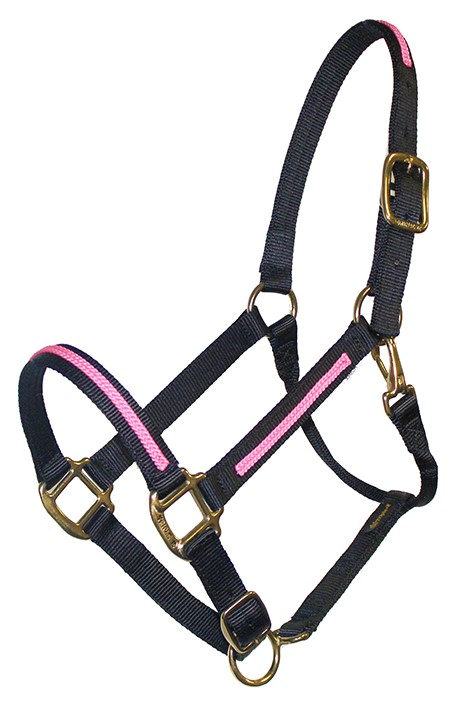 BRAIDED TRIM OVERLAY 1″ ADJUSTABLE HALTER, DURABLE BRONZE HARDWARE, braided trim, halter, overlay, Triple E Manufacturing