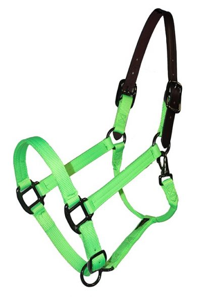 BREAKAWAY 1″ ADJUSTABLE NYLON HALTER, DURABLE STEEL GRAY HARDWARE, breakaway, halter, nylon, Triple E Manufacturing