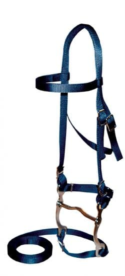 NYLON BRIDLE, INCLUDES 4 1/2″ BIT & 5′ REINS, PONY SIZE, pony, bridle, nylon, Triple E Manufacturing