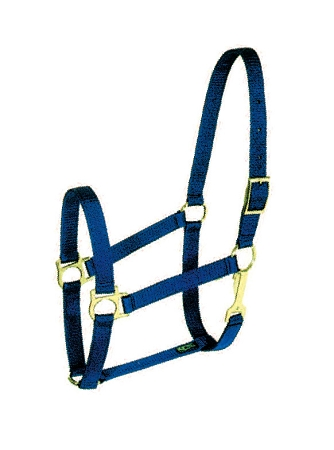 "Poly-Web 1"" Double-Ply Halter w/Snap & Brass-Plated Hardware"