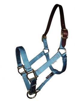 "Breakaway Mini 5/8"" Premium  Nylon Adjustable Halter, No Snap"