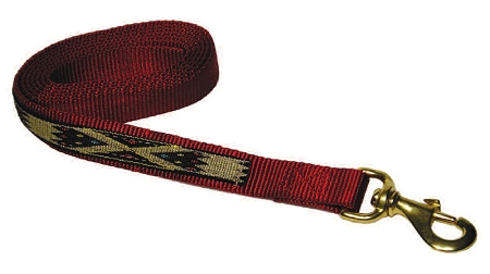 "Premium 1"" Nylon 7' Lead w/Durable Bronze Snap & Overlay, 7, lunge line, nylon, overlay, Triple E Manufacturing"
