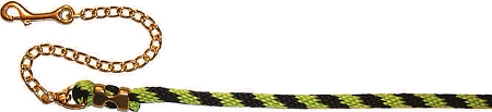 "9' Poly Rope Lead with Durable Bronze Malleable Iron 20"" Chain, lead, Triple E Manufacturing"