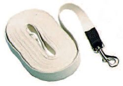 "30' Cotton Web Lunge Line with Brass Plate Snap & 6"" Handle"