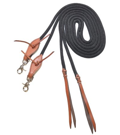 "7' Split Rein, 3/8"" Double-Braid Nylon Rope"