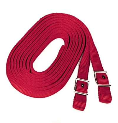 7' Nylon Split Reins, Double-Ply, Conway Buckles, split reins, split, reins, Triple E Manufacturing,
