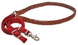 7 1/2' Nylon Game Rein with Braided Leather Grip