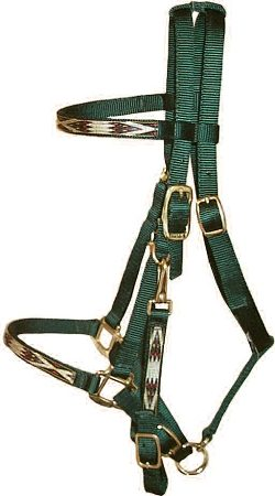Trail Bridle with Southwest Overlay, Bronze Hardware