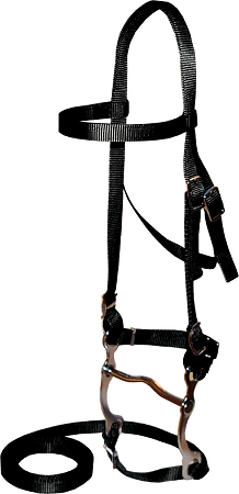 "Nylon Bridle, Includes 5"" Bit & 7' Reins, Horse Size"