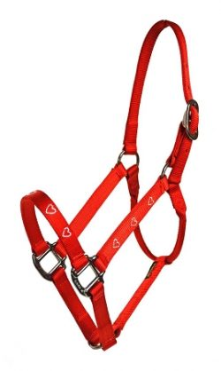 "Diamond Dust 1"" Nylon Halter, No Snap, Durable Steel Gray Hardware"