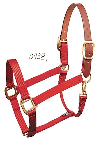 "Breakaway 1"" Nylon Halter with Snap, Durable Bronze Hardware"