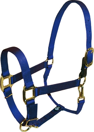 "Breakaway 1"" Adjustable Nylon Halter with Replaceable Leather Buckle, Durable Bronze Hardware, breakaway adjustable halter, nylon, halter, Triple E Manufacturing"