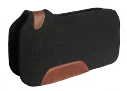 CONTOURED BLACK ORTHOPEDIC CUT-OUT FELT SADDLE PAD, 32″ X 32″ X 1/2″, contoured, orthopedic, saddle, pad, Triple E Manufacturing