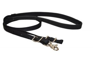 "7 1/2' Nylon 1"" Game Reins with 24"" Rubber Grip Handhold"