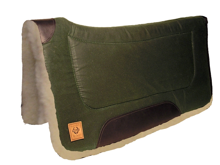 "Contoured Wax Rugged Ride Square Pad w/ Wool Bottom, 32"" x 32"""