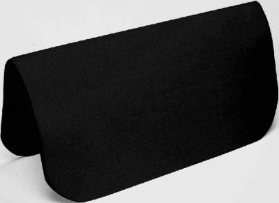 "1/2"" Black Orthopedic Felt Pad Liner, 30"" x 30"""