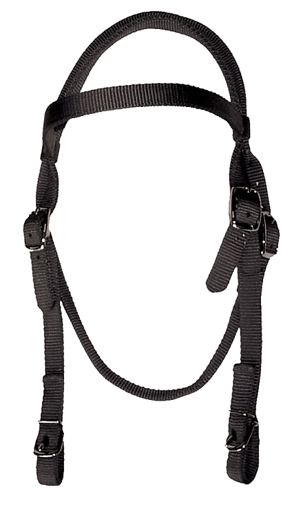 Brow Band Headstall with Buckle Ends
