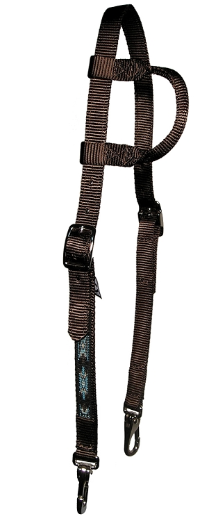Slip Ear Headstall with Southwest Overlay & Snap Ends