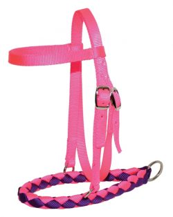 Mini Braided Nylon Bosal w/ Brow Band