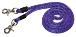 "5' x 3/8"" Poly Rope Single Rein w/ Nickel-Plated Scissor Snaps"