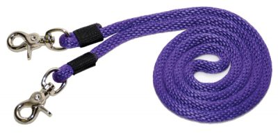 "5' x 3/8"" Poly Rope Single Rein w/ Nickel-Plated Scissor Snaps, poly, rope, single, rein, Triple E Manufacturing"