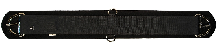 Triple E Manufacturing Poly Web Neoprene Girth w/ Nickel-Plated Double-Bar Buckles & D-Rings