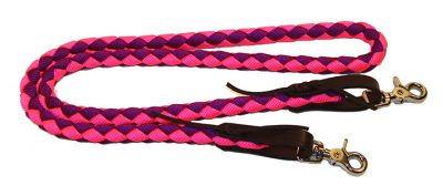 5′ BRAIDED 1/2″ NYLON MINI REIN WITH WATER STRAPS, nylon, mini, reins, water straps, Triple E Manufacturing