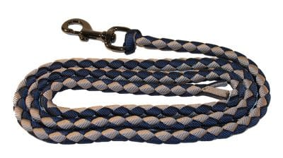 BRAIDED 1/2″ NYLON 8′ LEAD W/ STEEL GRAY SNAP, lead, braided nylon, Triple E Manufacturing