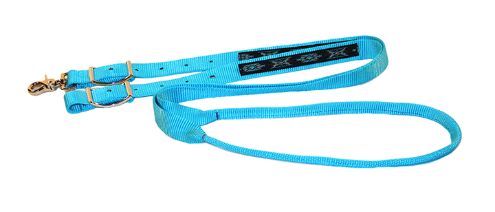 1″ NYLON GAME REINS WITH SOUTHWEST OVERLAY, nylon, game, reins, southwest, overlay, Triple E Manufacturing