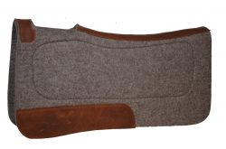 CONTOURED 100% WOOL FELT SADDLE PAD W/COMFORT GRIP PANELS, 32″ X 32″ X 1/2″, Contoured, Wool, felt, saddle, pad, comfort, grip, panels, Triple E Manufacturing