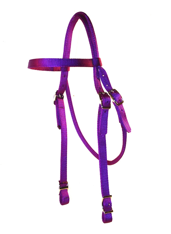 BROWBAND HEADSTALL WITH CONWAY BUCKLES, browband, headstall, nylon, Triple E Manufacturing