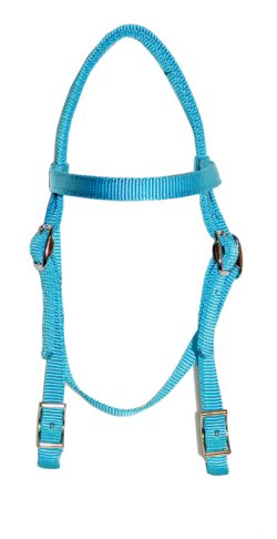 MINI BROWBAND HEADSTALL W/ CONWAY BUCKLES, mini, browband, headstall, nylon, Triple E Manufacturing