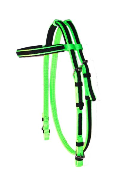 PADDED RACE HEADSTALL WITH OVERLAY, padded, race, headstall, overlay, Triple E Manufacturing