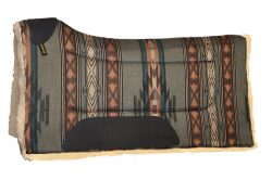 CONTOURED SOUTHWEST SADDLE PAD W/WOOL BOTTOM, 30″ X 32″, contoured, southwest, saddle, pad, wool, Triple E Manufacturing