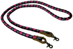 8′ BRAIDED 1/2″ NYLON REIN WITH WATER STRAPS, braided, nylon, rein, water, straps, Triple E Manufacturing
