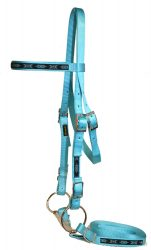 Draft Bridle w/ Overlay, Buckle Ends, Bit & Reins