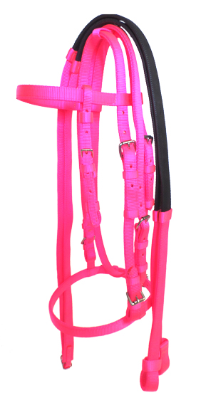 RACE BRIDLE WITH DOUBLE PLY REIN, race, bridle, nylon, rein, Triple E Manufacturing