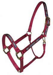 "Draft Halter, 1"" Premium Nylon Halter w/Snap & Overlay, Durable Bronze Hardware"