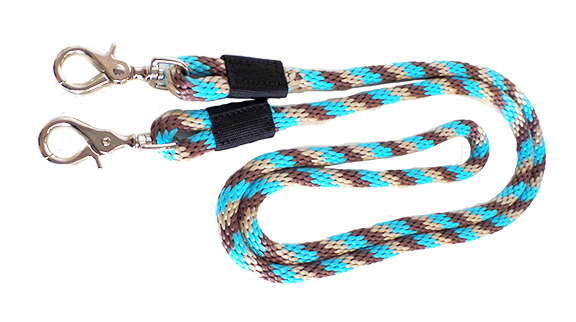 8′ TRAIL REIN WITH SCISSOR SNAPS, 5/8 POLY ROPE, trail, rein, scissor, snap, poly, rope, Triple E Manufacturing, 8' trail rein