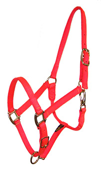 PREMIUM 3/4″ NYLON HALTER, FULLY ADJUSTABLE, DURABLE BRONZE HARDWARE, nylon, adjustable, halter, Triple E Manufacturing