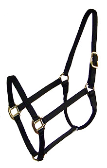 PREMIUM 3/4″ NYLON HALTER, NO SNAP, DURABLE BRONZE HARDWARE, nylon, halter, Triple E Manufacturing
