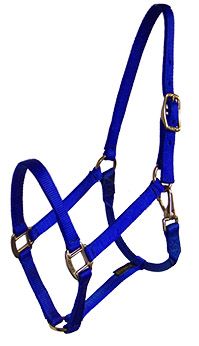 PREMIUM 3/4″ NYLON HALTER WITH SNAP, DURABLE BRONZE HARDWARE, nylon, halter, Triple E Manufacturing, nylon horse halter