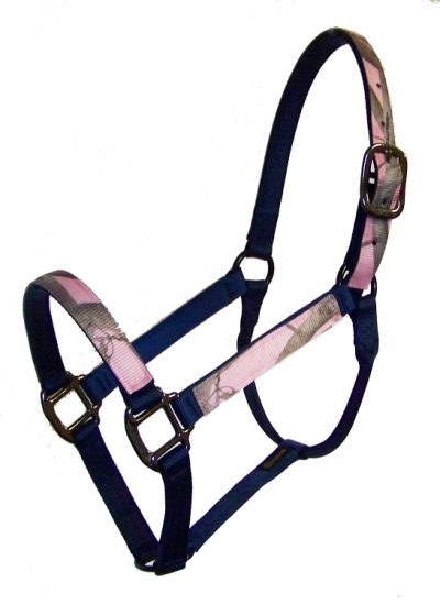 REALTREE® CAMOUFLAGE 2-PLY NYLON HALTER, NO SNAP, BASIC BRONZE HARDWARE, camouflage, nylon, halter, Triple E Manufacturing
