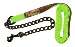 REALTREE® CAMOUFLAGE 7′ NYLON LEAD W/ 20″ STEEL GRAY CHAIN, camouflage, nylon, lead, Triple E Manufacturing