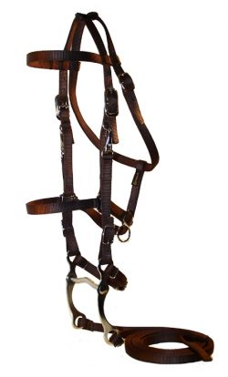 TRAIL BRIDLE WITH NICKEL HARDWARE, INCLUDES BIT & REINS, trail, bridle, Triple E Manufacturing