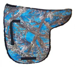 CAMOUFLAGE ENGLISH LANE FOX FLEECE BACK SADDLE PAD, saddle pad, camouflage, fleece, Triple E Manufacturing