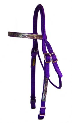 REALTREE® CAMOUFLAGE BROWBAND HEADSTALL WITH CONWAY BUCKLES, camouflage, browband, headstall, nylon, Triple E Manufacturing