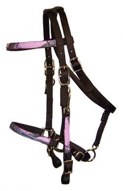 REALTREE® CAMOUFLAGE TRAIL BRIDLE, NO BIT OR REINS, BRONZE HARDWARE, camouflage, trail, bride, realtree trail bridle, Triple E Manufacturing
