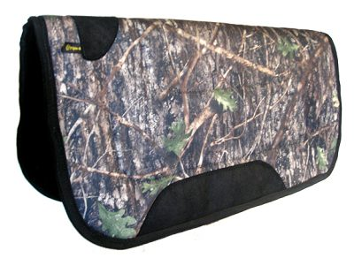 CAMOUFLAGE BARREL/TRAIL SADDLE PAD WITH BINDING, SQUARE 30″ X 32″, camouflage, barrel, trail, saddle, pad, Triple E Manufacturing