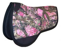 CAMOUFLAGE CONTOURED FULL COMFORT GRIP SADDLE PAD, ROUND, camouflage, contoured, full, comfort, grip, saddle, pad, round, Triple E Manufacturing